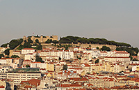 City of Lisbon with Castle